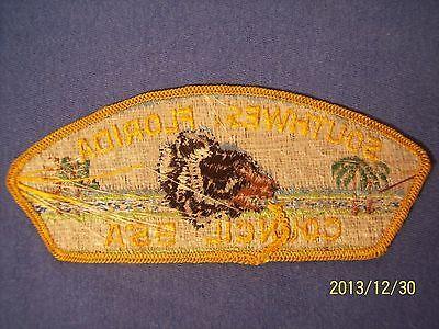 Southwest Florida Council SWFC Boy Scouts BSA CSP Strip Shoulder Patch FL B.S.A.