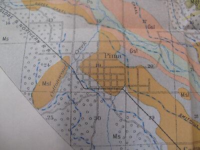 Color Soil Survey Map Solomonville Arizona Safford Thatcher Pima Central 1903 5