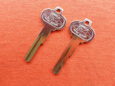 2 Ford Mustang Pony Nos Trunk Key Blanks 64 1964 65 1965 66 1966 2