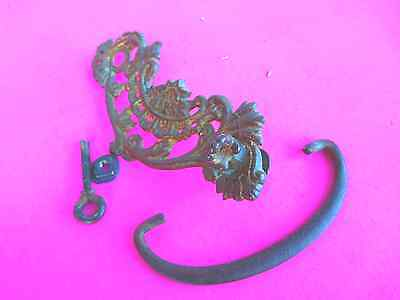 4 Antique set of ( 4 ) matching  /  Ornate Victorian Brass - FOUR - Draw Pulls 4