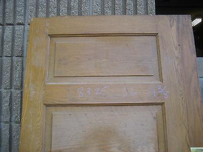 """circa 1900 SOLID oak PANELED door CHICAGO brownstone 83.25"""" x 32"""" x 1 3/8"""" 2"""