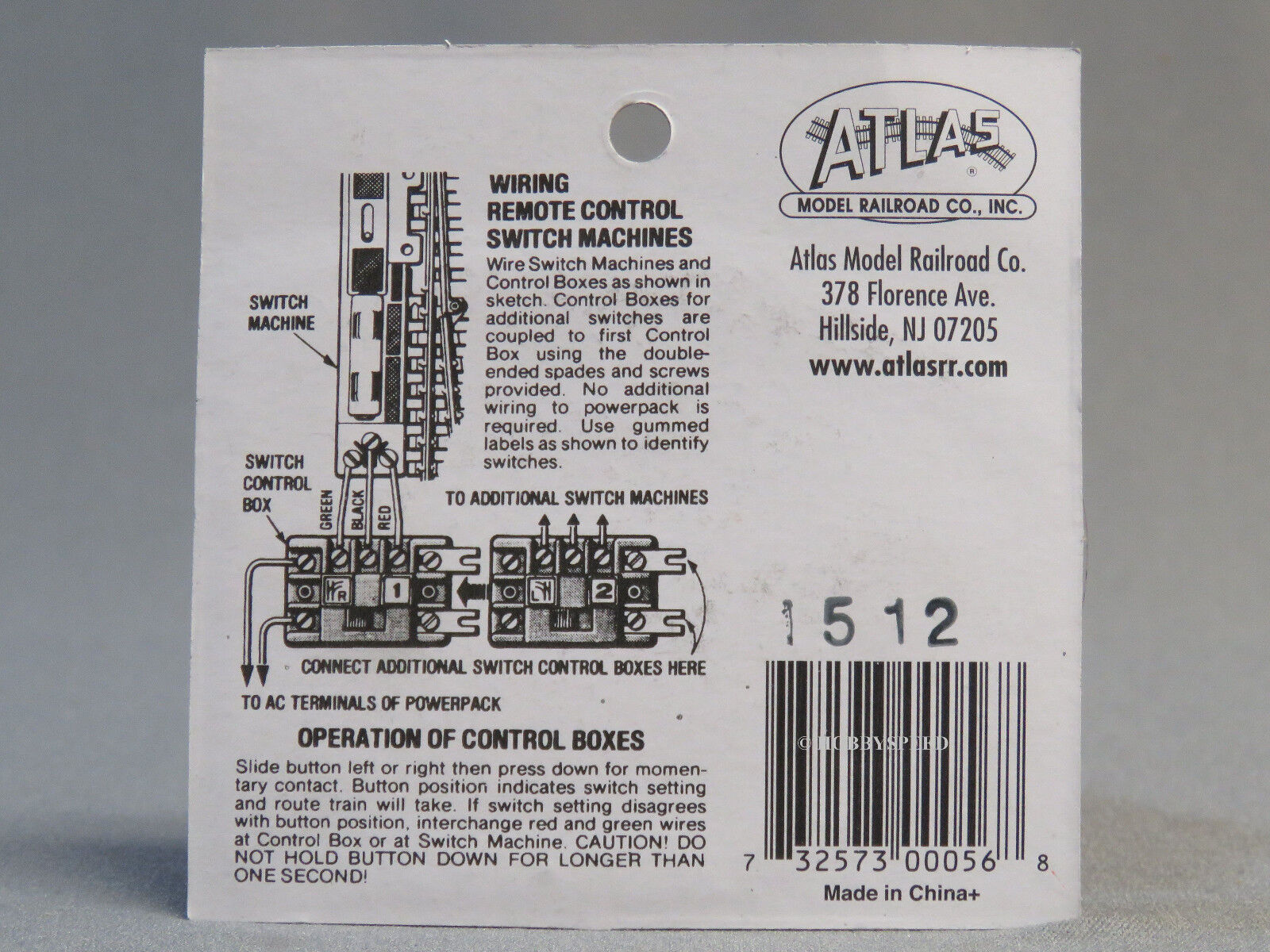 Atlas Trains ~ general hobby HO Scale Train Switch Control Box ATL56