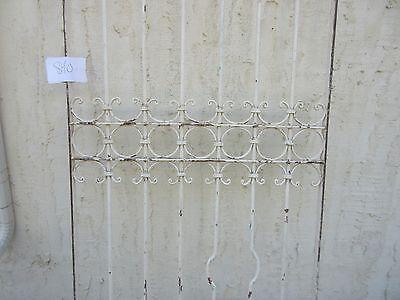 Antique Victorian Iron Gate Window Garden Fence Architectural Salvage #840 3