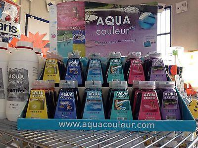 colorant piscine ou spa bleu turquoise aquacouleur flacon - Colorant Piscine