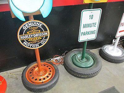 Large Traffic Light Gas Pump Globe Sign Pole Harley Coke OK Cars Corvette 10