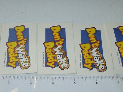 2007 Don't Wake Daddy Board Game Lot of 7 Cards Only Hasbro 6