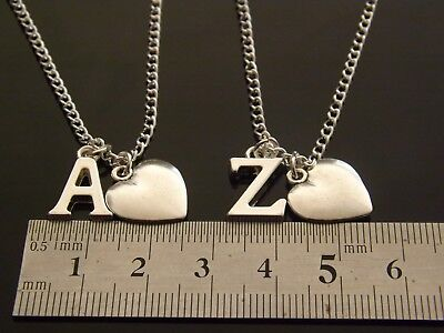 cbf78d7e6ac27e ... Personalised Initial Necklace with Heart Pendant and Silver Plated  Letter 2