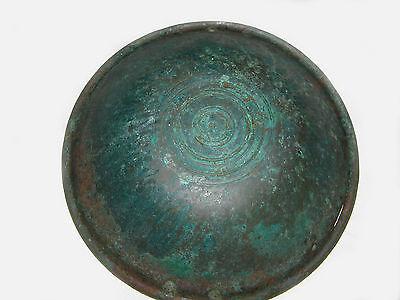 """UNIQUE VERY RARE LARGE ANCIENT BRONZE ROMAN/BYZANTINE/THRACIAN BOWL 16""""  (41 cm) 4 • CAD $4,920.00"""