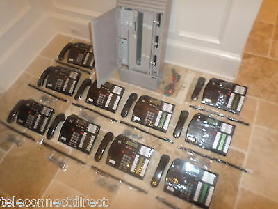 NORTEL NORSTAR MICS Office Phone System (10) T7316 phones Caller ID +  Voicemail