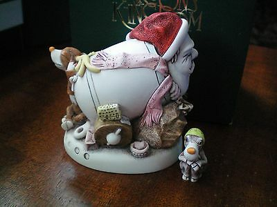 NEW Harmony Kingdom Mail Shot 2017 Santa & Miniature Reindeer UK Made SGN