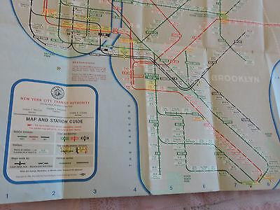 Mta Subway Map Brooklyn.Rare 1961 Edition New York City Nyc Subway Map Brooklyn Bronx