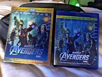 The Avengers (Blu-ray 3d DVD, 2012, 4-Disc Set 5
