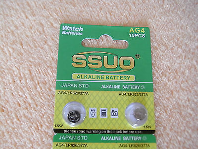 10pcs AG4/LR626/377A Button Cell Coin  Alkaline Battery 1.55V  Watches 2