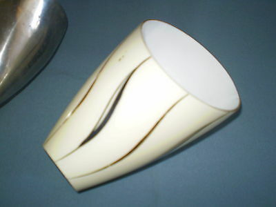 Old Wall lamp white metal with glass 1900-1940, Art Deco 3