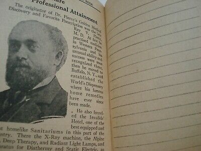 1929 Dr Pierce's Memorandum & Account Book Quack Medicine Tract Book 6