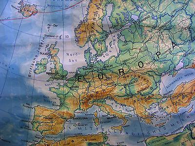 Schulwandkarte schöne alte Nördliche Erdhälfte Arktis 170x177c vintage map ~1957 5