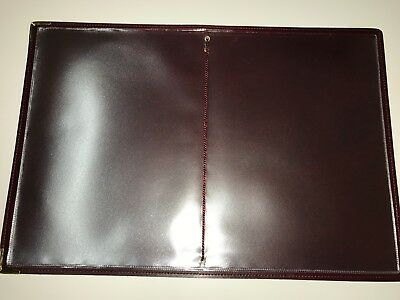 Qty 20 (Pu Leatherette) Top Quality A4 Menu Folder In Black Or Burgundy 3