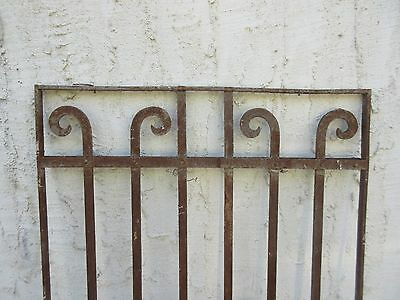 Antique Victorian Iron Gate Window Garden Fence Architectural Salvage #845 2
