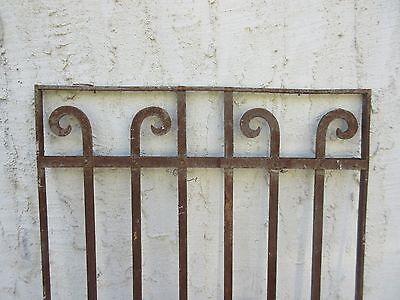 Antique Victorian Iron Gate Window Garden Fence Architectural Salvage #845 2