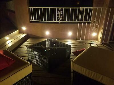 FVTLED 10x Lampe de Spot A LED pour Terrasse Enterre IP67 DC12V Blanc hot 11