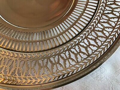 """Antique Sterling Silver Watson Co Reticulated Sandwich Plate Tray 9.5"""" Stunning 4"""