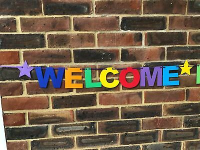 Personalised Welcome Home Banner Bunting Decoration Multi-Colour New Arrival 6