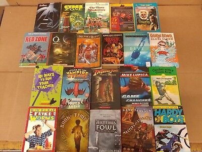 Lot of 20 Chapter Books for BOYS Youth Early Reader Young Adults Children RANDOM 4