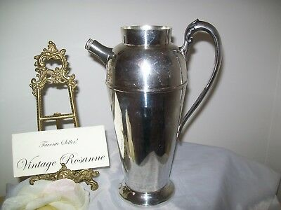 Silver Plated Pitcher Victorian Plate Canada Vintage Coffee Martini Serve Vase 11