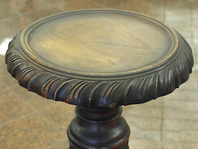 PAIR of ANTIQUE EARLY MID 20c ELABORATE ITALIAN CARVED WOOD PEDESTAL STANDS