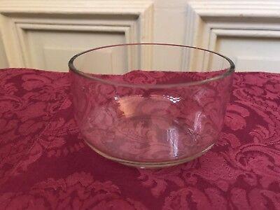 Henkelschale mit Glaseinsatz tolle Girlandenmuster  Versilbert Jugendstil 7