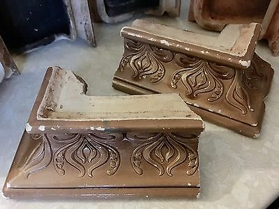 Antique Italian Glazed Brick Tile Fireplace Mantle, Fireplace Tiles Set Of 6 6