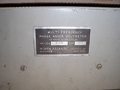 Phase Angle Voltmeter VM-204 S-383 North Atlantic Industries 8