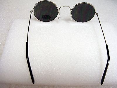 fd2273029fda ... John Lennon Sunglasses Round Hippie Style Silver Mirror Lens Retro Silver  Frame 3