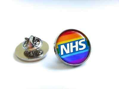 Nhs Uk Nurse Doctor Ambulance Medic Porter Paramedic Green Line Lapel Pin Badge 11