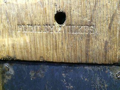 Vintage English Oak Box Lock , Architectural Salvage Knocker Handle Knob Bell 8