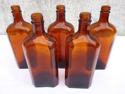 5 x alte braune Medizin Glas Apotheke Apotheker Flasche 250 ml ca. 17,0 cm braun 3