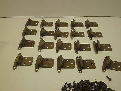 NOS VINTAGE LOT OF 10 PAIR  CABINET HINGES GOLD ANTIQUE  BRASS finish Y 6