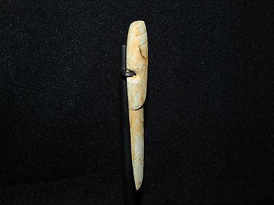 Pre-Columbian Avian Jade Axe God, Custom Stand, Authentic, Calcified Jade 2