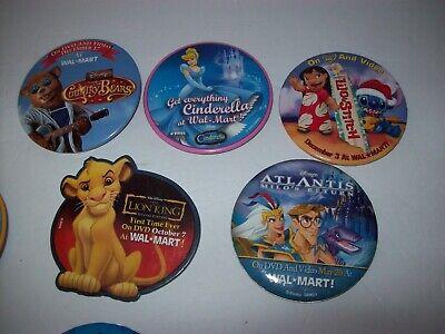 WALMART EMPLOYEE PINS/BUTTON Vintage Pinback Kids Movies, Disney Lot