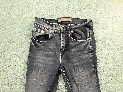 "Zara Man Skinny Jeans Waist 28"" Leg 28"" Faded Dark Blue Boys 12Yrs Jeans 2"
