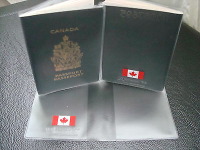 CANADA PASSPORT COVER  Clear Plastic Vinyl 5
