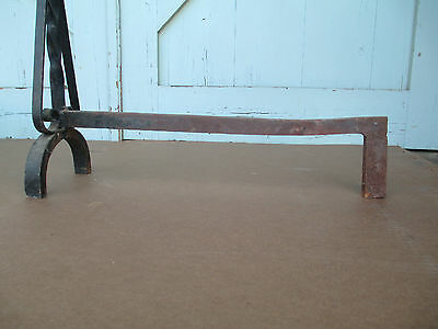 MISSION hand Wrought iron FIRE PLACE andirons  / 19.6 Lbs. simple ARTS & CRAFTS 5
