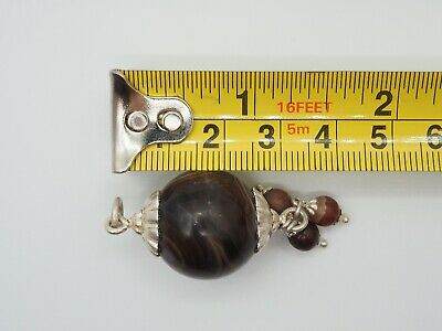 Old Eye Agate Indus Valley Sterling Silver Small Ancient Eye Agate Bead Pendant 7