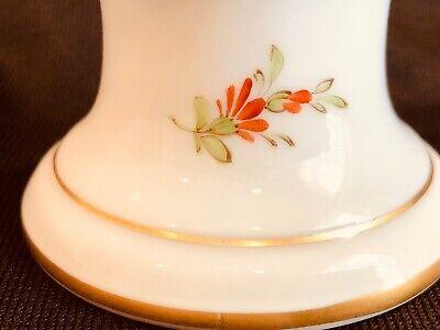 Hochst Floral Candleholder Hand Painted Porcelain New 6