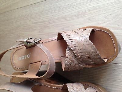 Andrea Conti Sandalette m Nieten beige Riemchen Sandalen Gr 37 38 39 40 41