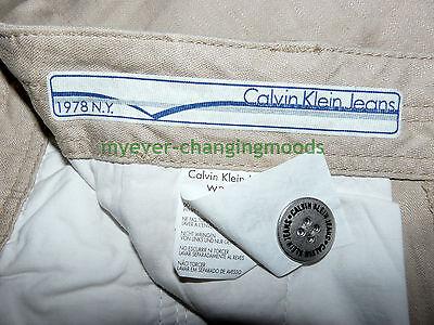 Calvin Klein Unisex Jeans 28 Waist 33 Inside Leg Stone Cream New Unworn Rrp £154 10