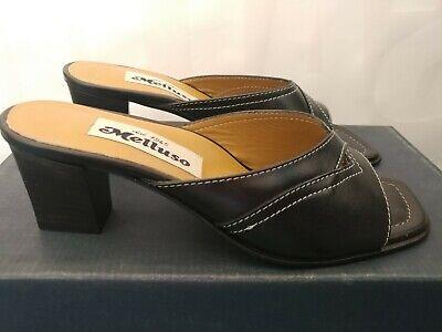 MELLUSO S526 alba oro scarpe donna sandali ciabatta tacco