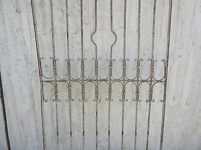Antique Victorian Iron Gate Window Garden Fence Architectural Salvage Door #370 3