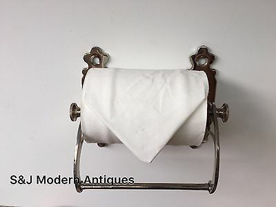 Unusual Toilet Roll Holder Chrome Novelty Vintage Victorian Silver Shabby Chic 12