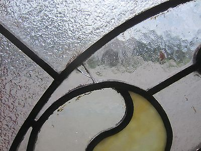 ~ Beautiful Antique American Stained Glass Window Arched Architectural Salvage ~ 6
